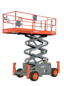 skyjack 6832 rough terrain scissor lift photo