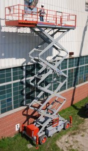 skyjack 9250 rough terrain scissor lift photo