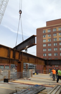 steel erection by iron workers