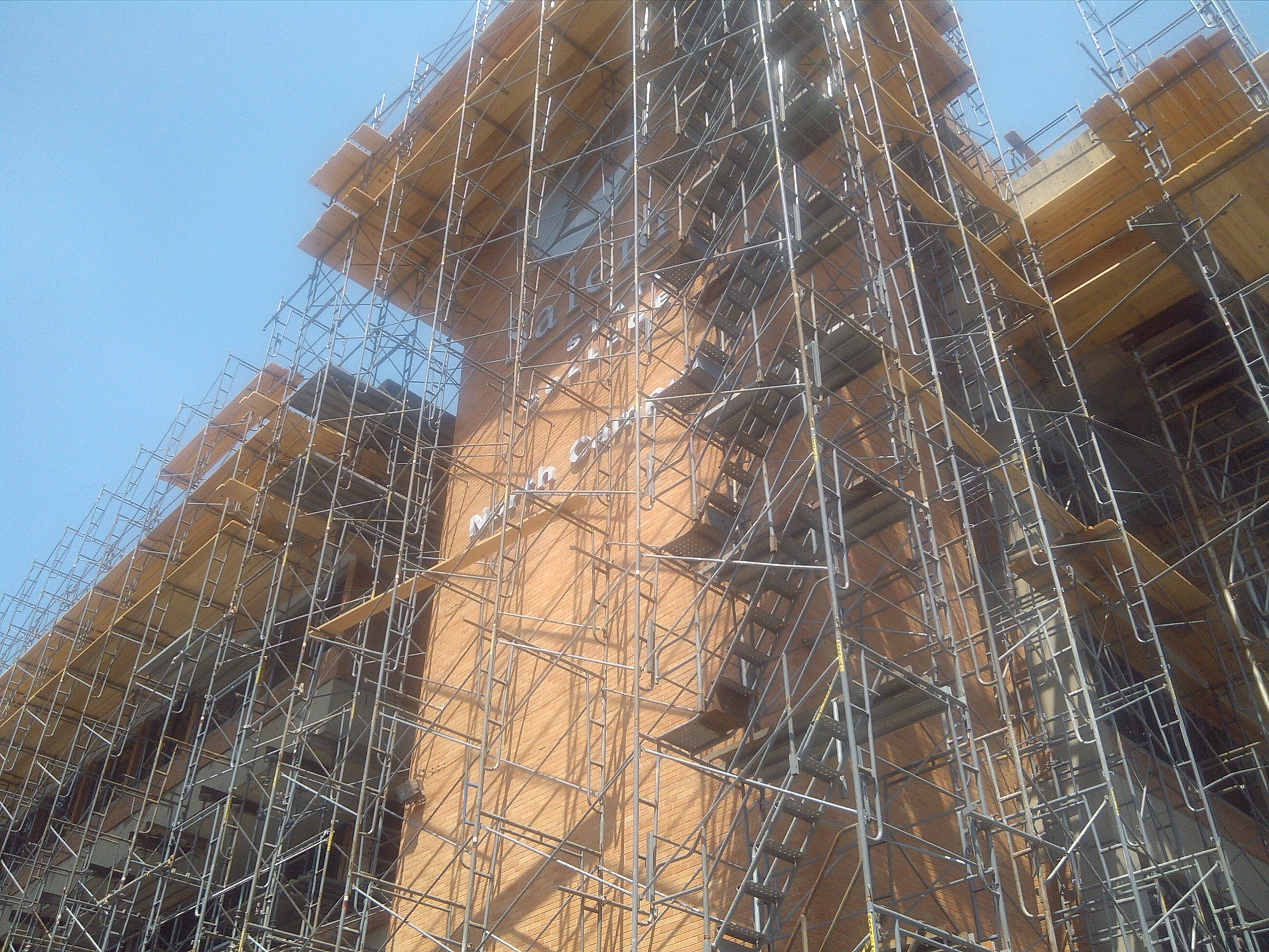 scaffolding at Salem State University