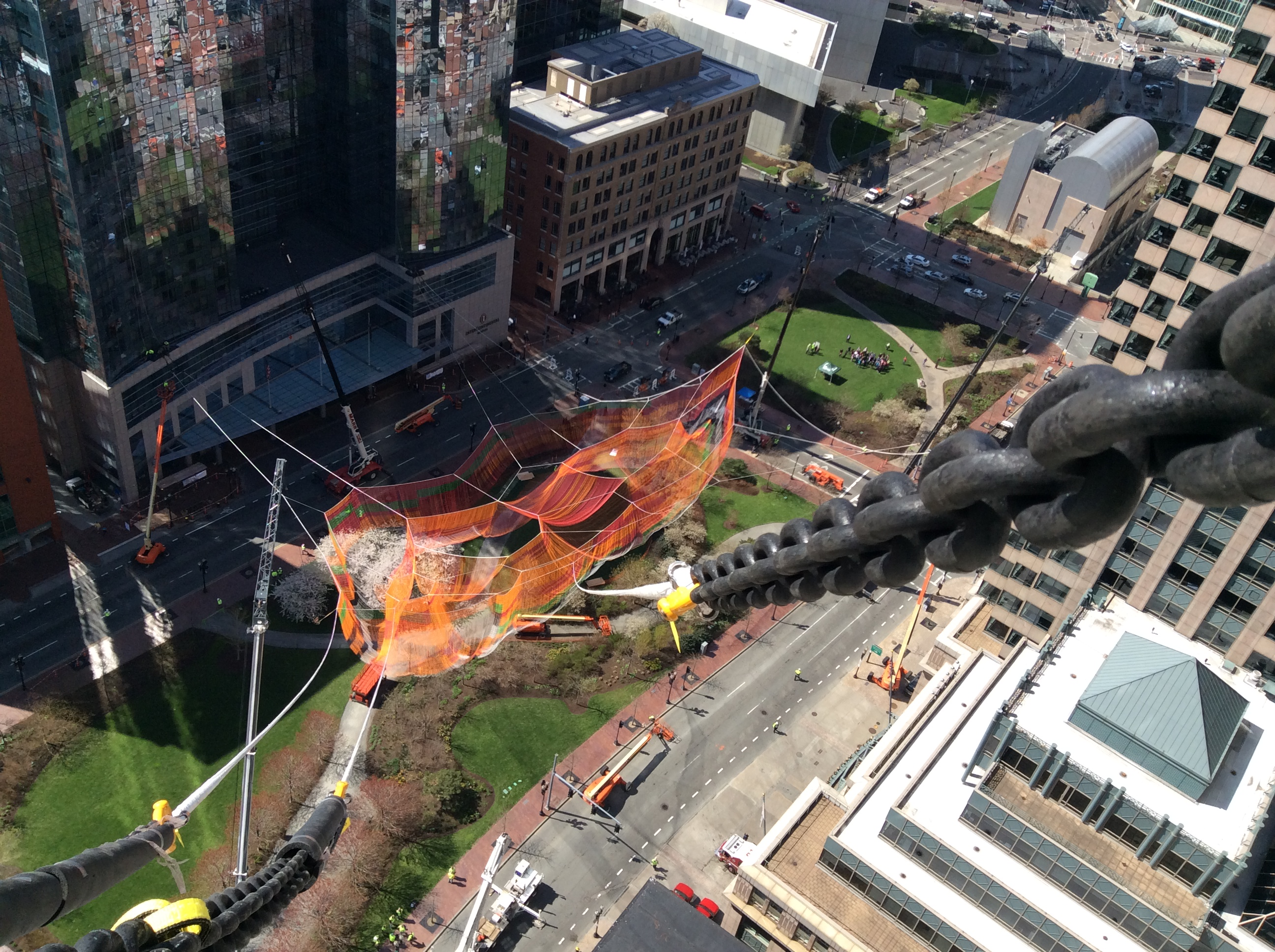 Sculpture Installation, Rose Kennedy Greenway