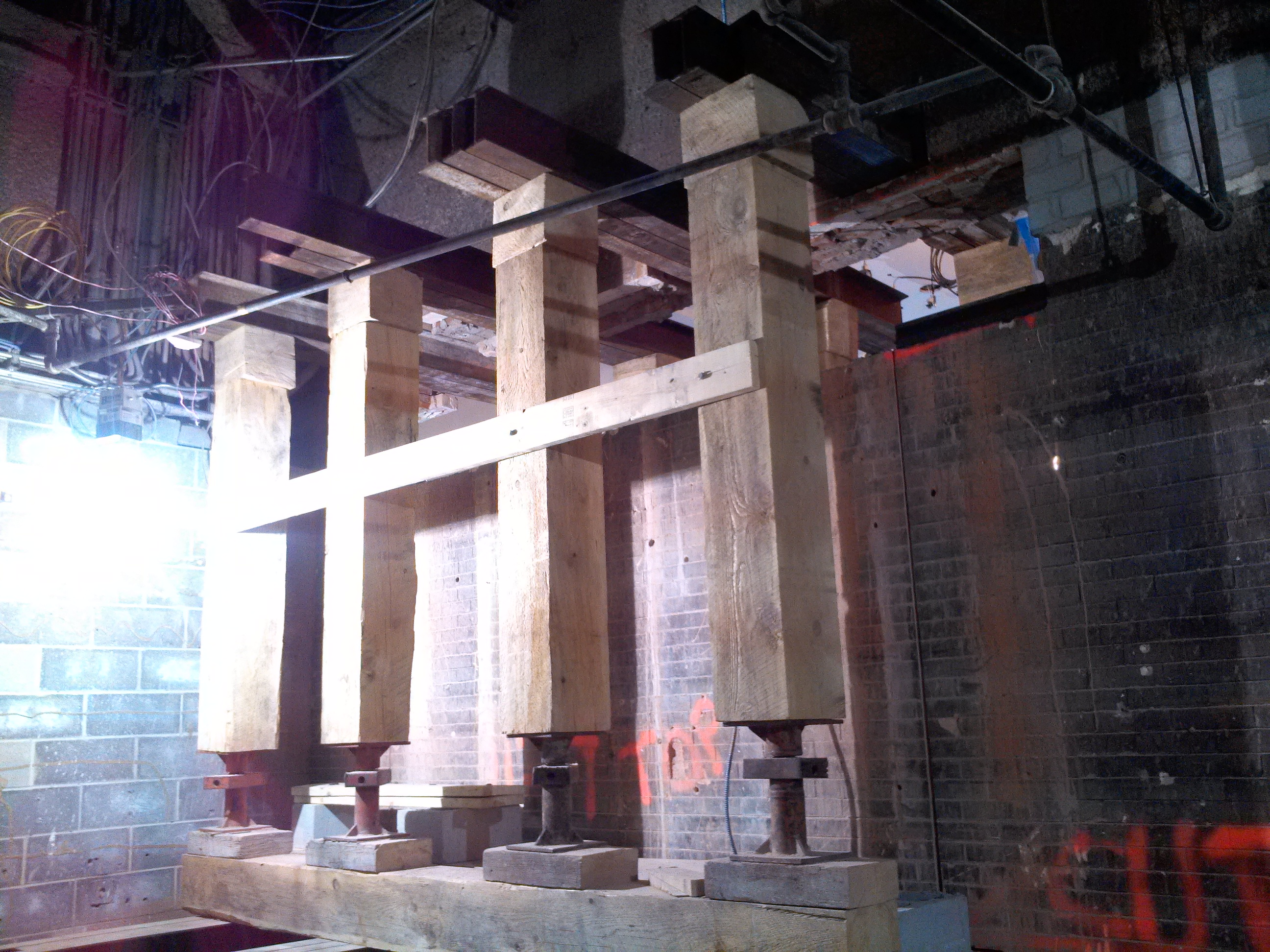 shoring at boston's south station