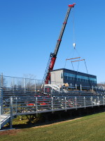 Dean College Press Box Installation