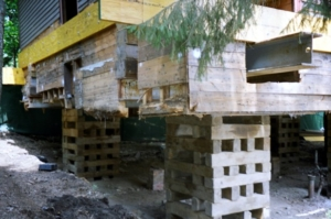 foundation failure shoring photo