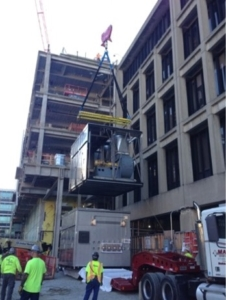 crane rigging project at MIT