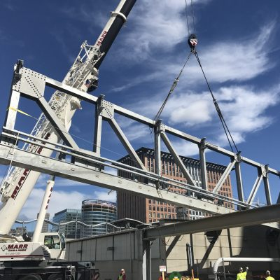 Bridge Installation over MBTA Silver Line