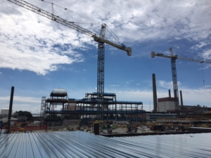 wynn casino steel installation photo