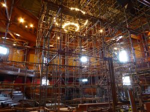 scaffolding memorial hall harvard university