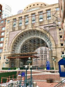 scaffold rowes wharf boston photo